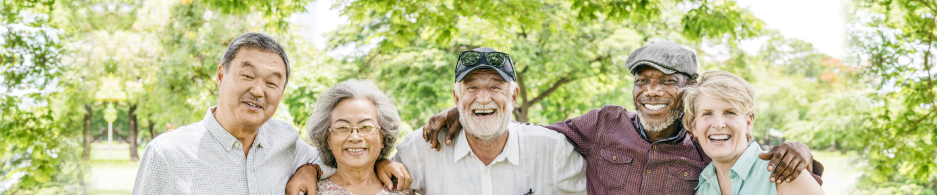 seniors enjoying the park